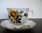MEGA SALE 25% off - Use Shop Coupon: Elegant Royal Grafton Fine Bone China Tea Cup and Saucer