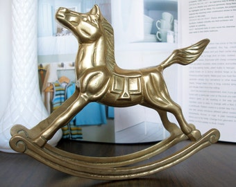 Vintage Brass Rocking Horse - Great Decor