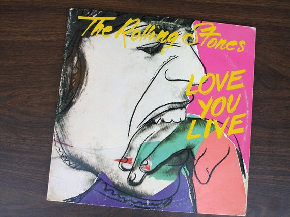 SALE-Take 25% off (Apply MEGASALE2012 coupon): The Rolling Stones - Love You Live (COC 2-9001) 1977 - 2 Vinyl LPs - Andy Warhol Cover Desigh