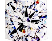Facets - scarf (white)
