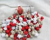 Paper Stars, Crimson Themed in Glass Bottle
