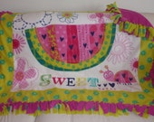 Sweet Heart No-Sew Fleece Blanket (1 1/2 yard)