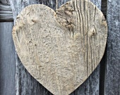 rustic wood heart made from 130 yr.old barn board, large size