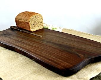 huge Black Walnut Charcuterie Board, heirloom, organic, sustainably harvested wood, live edge, ready to ship