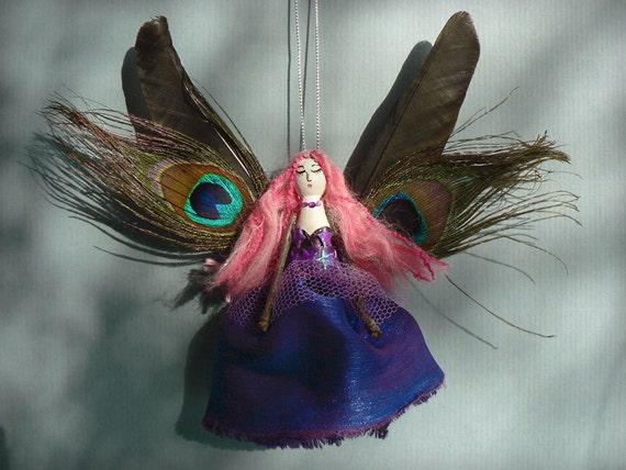 Witch / Fairy Doll Ornament -  Ooak handmade peg doll.