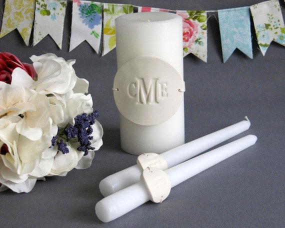 PERSONALIZED Unity Candle Ceremony Set - Gift Boxed