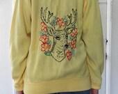 Vintage Redeux Embroidered Deer Cardigan