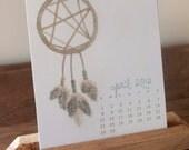 2012 Desktop Calendar - Original Watercolor & Pencil
