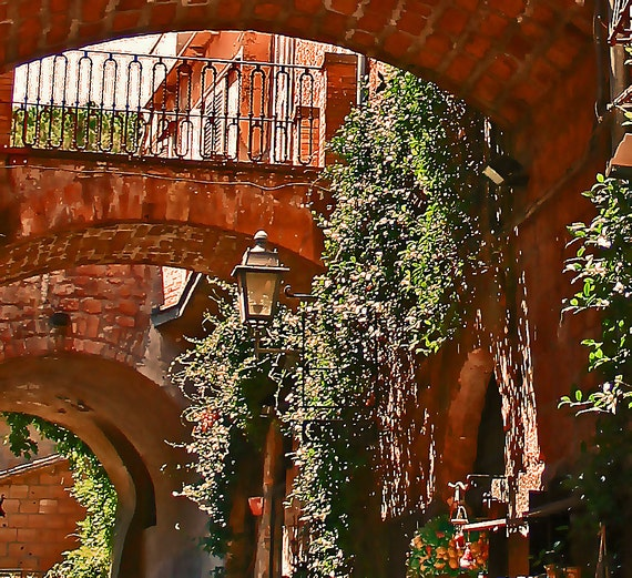 Over Path, Arch, italy Photography, Living Art, Garden Art, Apartment Art, Architectural Photography
