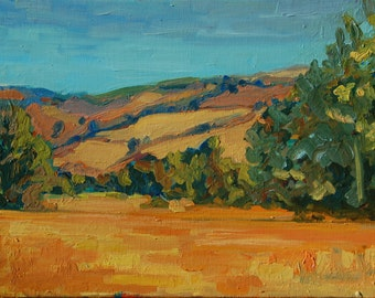 "Garland Park, Carmel Valley oil painting 12""x16"""