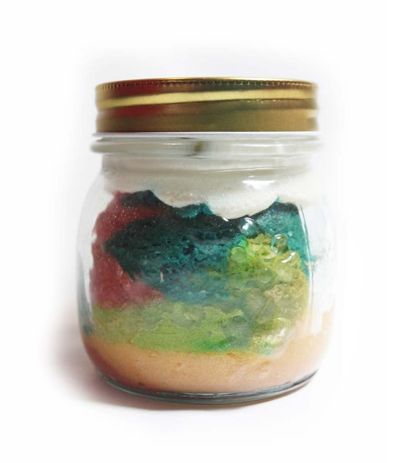 Rainbow cake in a jar by occasionalsweets on Etsy