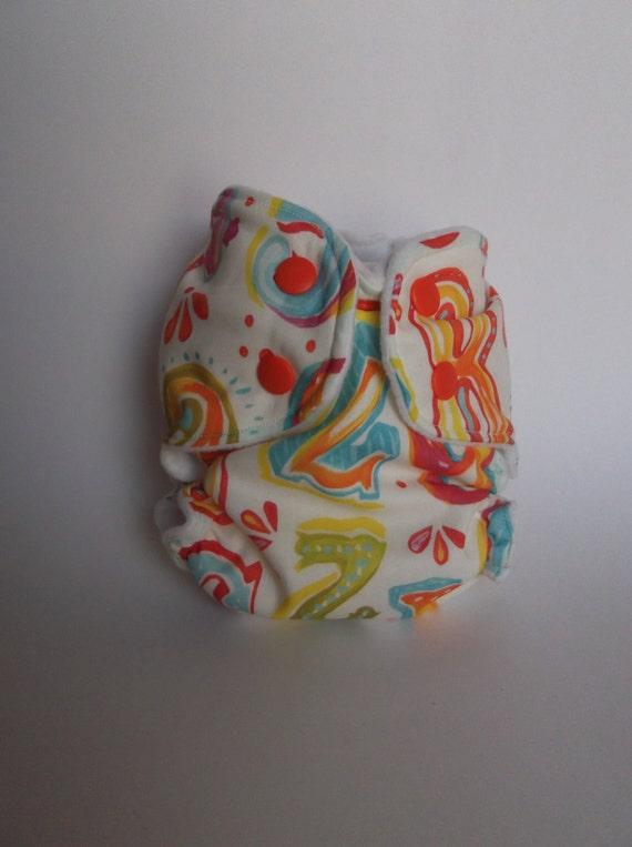 Circus Numbers Newborn AI2 Cloth Diaper