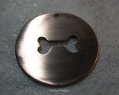 Dog Bone Cut Out Metal Cut Out Stamping Disc / Hand Stamp Shape Disc / Handstamping Supply / Custom Design Blank