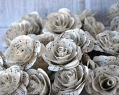 Music Sheet  Paper Roses for Weddings and Craft Projects