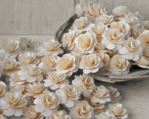 150  Pcs Natural Birch Wood Roses for Weddings, Home Decorations, Scrapbooking and Floral Arrangements