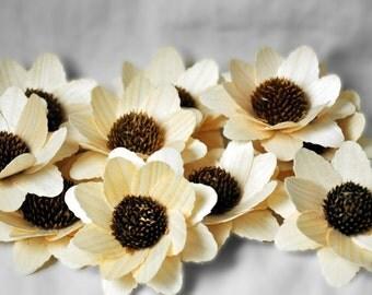 Sunflowers -One Dozen - Wooden Flowers - Decorations