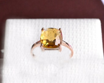 Citrine Ring In 14K Rose Gold