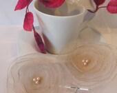 Champagne organza flower bobby pins