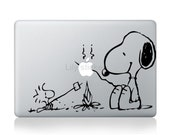 Snoopy--Mac decals Macbook sticker Macbook pro decal Macbook air decal Aappl decal sticker apple ipad decal sticker ipad