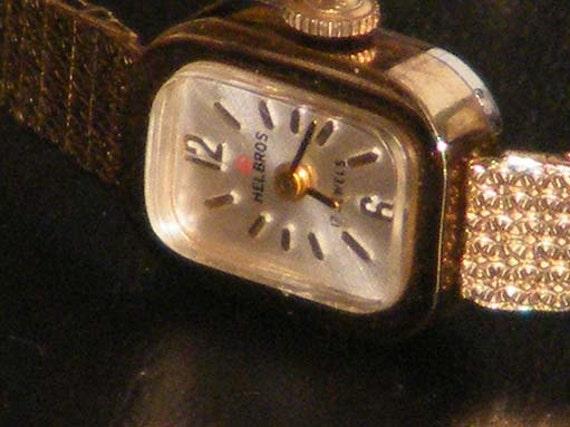 Ladies Helbros Mechanical 17 jewels Wind Up 1/20 10 KT GF Watch
