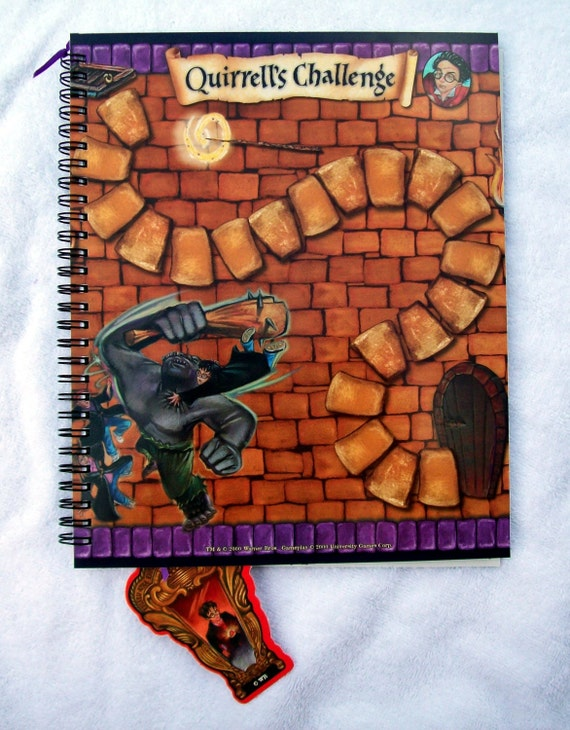 Harry Potter Recycled Game Board Notebook Journal