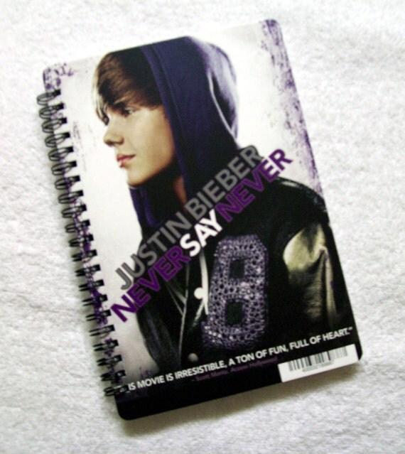 Justin Bieber Never Say Never DVD Backer Card Notebook Journal