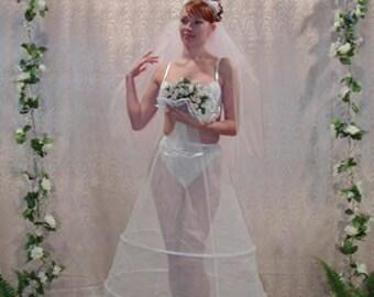 CRINOLINE Petticoat Slip for WEDDING DRESS Skirt Bridal Gown 3 Hoop