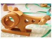 Kids Wooden toy Helicopter. Handmade organic toys - Ready to Ship