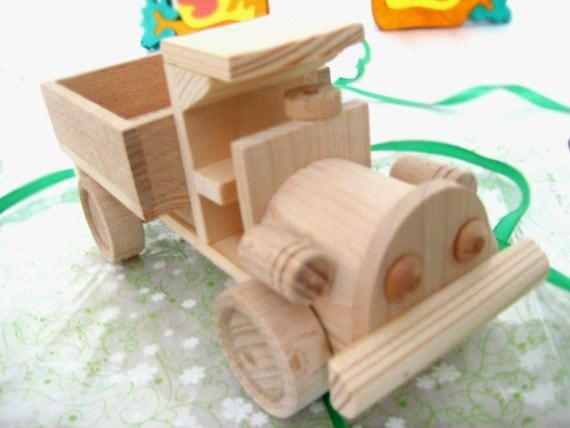 Wooden Toy Truck. Handmade eco friendly wooden toys for kids - Ready to Ship