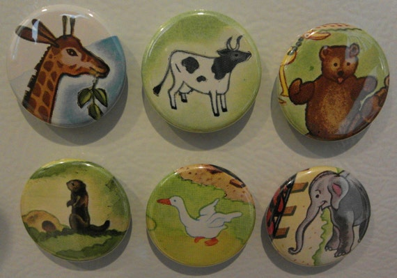 LABOR DAY SALE 50 Percent Off Animal and bird magnet set (6)