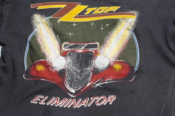 1983 ZZ TOP Size L Across The USA Eliminator Tour