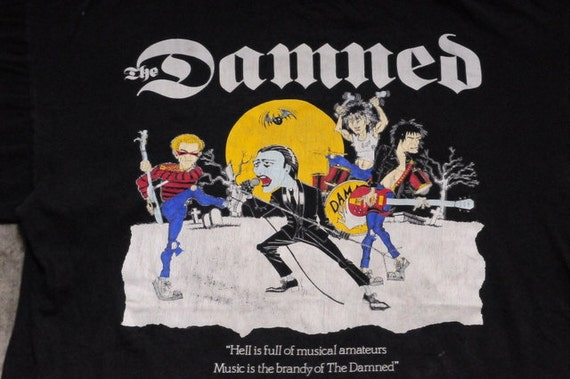 """1989 The Damned """"Hell is Full of Musical Amateurs"""" Farewell T-Shirt"""