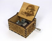 Engraved  wooden music box (Fur Elise)