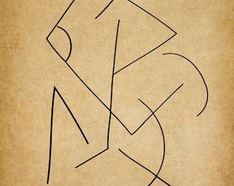 Geometric, A Gestural Drawing.