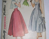 Simplicity Pattern for Teen Dress and Bolero Jacket 2861 from 1940s -- Uncut