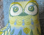 Oswald the Owl Tea Towel / Cloth Kit - A silkscreen design by Sarah Young