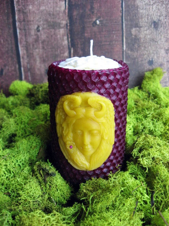 Small Goddess Beeswax Candle - Natural