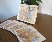 SALE Vintage Placemats .. Set of Vintage Australian Native Flora Cork Placemats