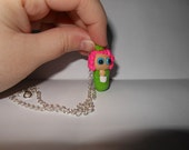 HUNGER GAMES: Effie Trinket Polymer Clay Charm Necklace