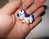 Rarity Clay Charm Necklace (My Little Pony: Friendship is Magic)