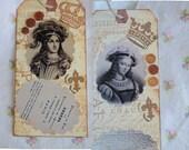 SALE Saint Joan of Arc Jeanne d' Arc Patron Saint of France Original Art Tag