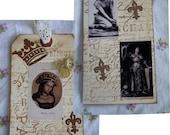 SALE Saint Joan of Arc Jeanne d' Arc Patron Saint of France Original Art Tag Lovely Images Sculptures