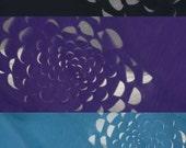touching design blossom jersey scarf - sweetgrape purple