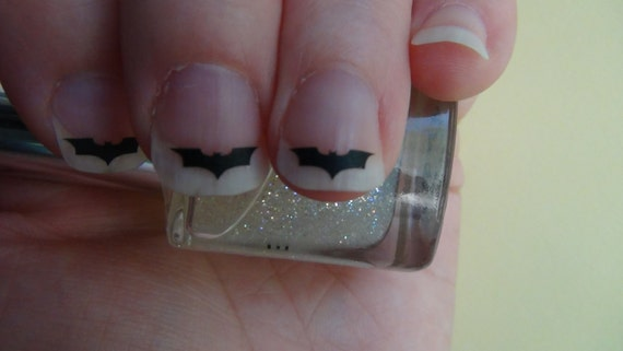 Bat Style 2 Inspired Nail Art Decals Set of 50 Vinyl Stickers Applique Manicure Pedicure Party Event Accessories