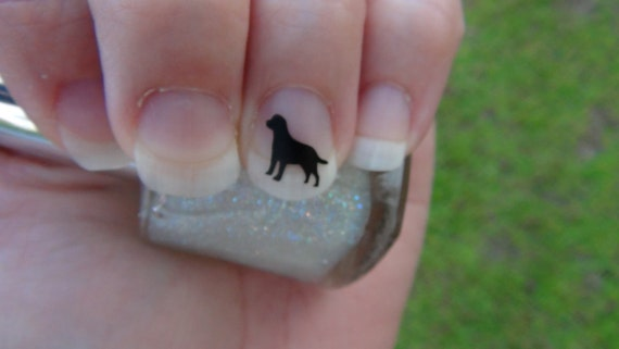 Labrador Retriever Nail Art Decals Set of 50 Vinyl Stickers Applique Manicure Pedicure Party Event Accessories