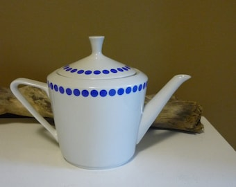 Vintage Polka Dot Pottery Teapot - Northland China Made in Hungary