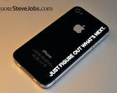 Steve Jobs quotes (INTUITION SET WHITE) iPad sticker iPad decal MacBook sticker MacBook decal  iMac sticker iPhone sticker iPhone Decal