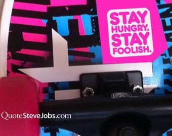 Steve Jobs quote (FOOLISH SET WHITE) iPad sticker iPad decal MacBook sticker MacBook decal iMac decal iPhone sticker iPhone Decal