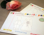 Little Wedding Alphabet Doodle Pad with A Pack Of Wax Crayons