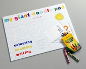 Giant Counting Doodle Pad With Pack Of 12 Wax Crayons